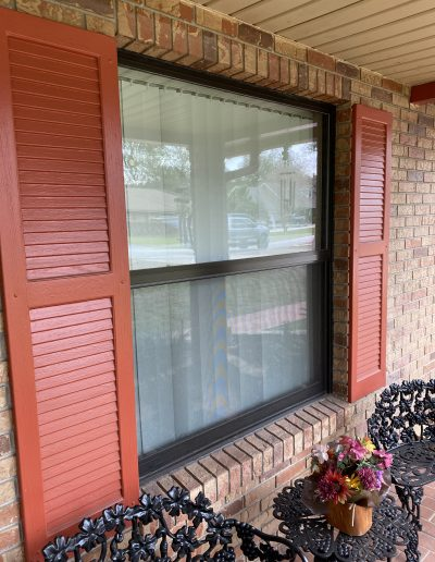 Brand new window installed with beautiful shudders in Bartow Florida